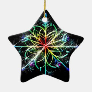 Retro Colored Star Christmas Ornament