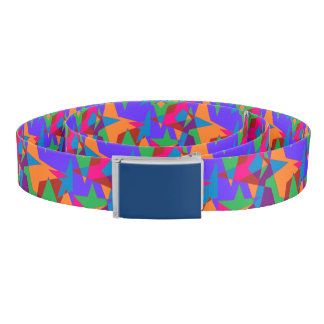 Retro Colorful Abstract Belt