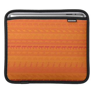 Retro Colorful Animals Modern Stripes Pattern #10 iPad Sleeve