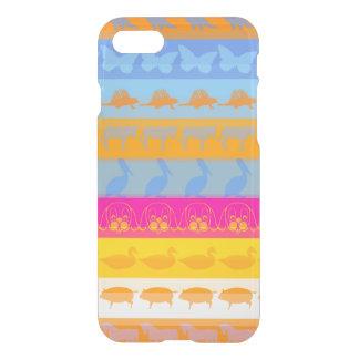 Retro Colorful Animals Modern Stripes Pattern #3 iPhone 8/7 Case