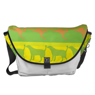 Retro Colorful Animals Modern Stripes Pattern #5 Commuter Bag