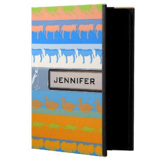 Retro Colorful Animals Modern Stripes Pattern #5 Powis iPad Air 2 Case