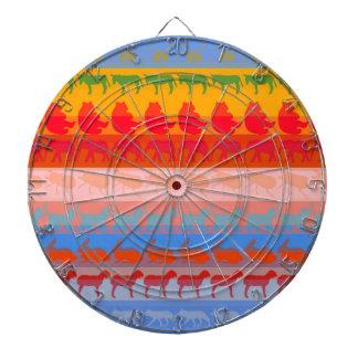 Retro Colorful Animals Modern Stripes Pattern #8 Dartboard