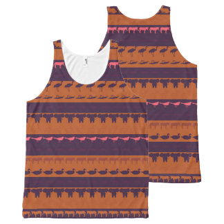 Retro Colorful Animals Pattern #2 All-Over Print Tank Top