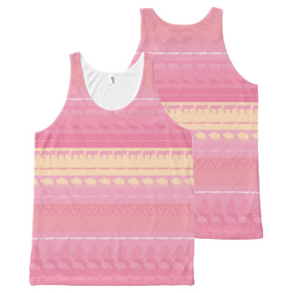 Retro Colorful Animals Pattern #4 All-Over Print Tank Top