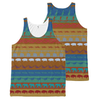 Retro Colorful Animals Pattern #6 All-Over Print Tank Top