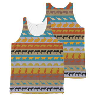 Retro Colorful Animals Pattern #8 All-Over Print Tank Top