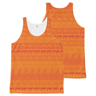Retro Colorful Animals Pattern #9 All-Over Print Tank Top