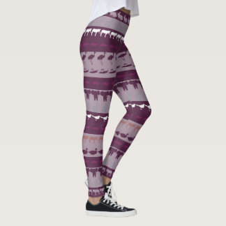 Retro Colorful Animals Pattern Leggings