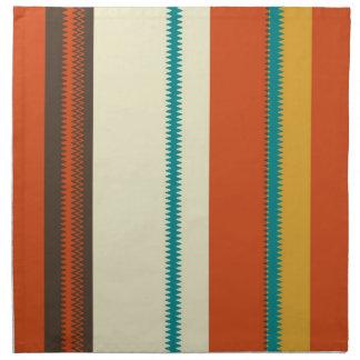 Retro Colorful Chevron Striped Pattern Party Napkin