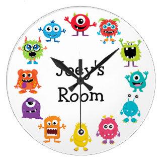 Retro Colorful Custom Personalized Monster Clock
