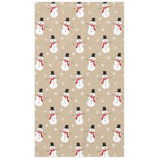 Retro Colorful Festive Christmas Snowman Tablecloth