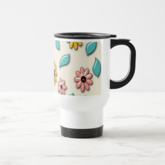 Retro Colorful Flower Pattern Mug