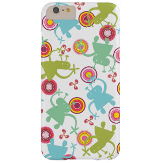 Retro Colorful Fun Cute Boy Cartoon Aliens Casing Barely There iPhone 6 Plus Case
