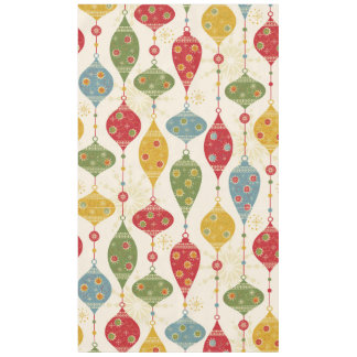 Retro Colorful Holiday Festive Christmas Tablecloth