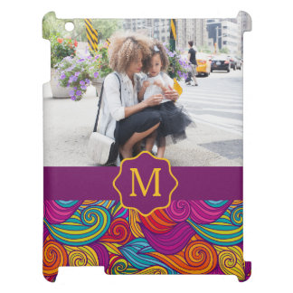 Retro Colorful Jewel Tone Swirly Wave Pattern Case For The iPad 2 3 4