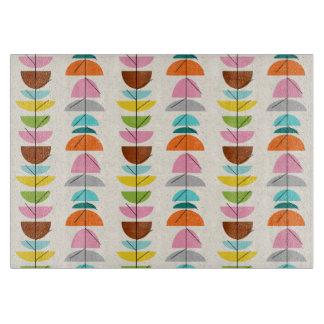 Retro Colorful Nests Cutting Board