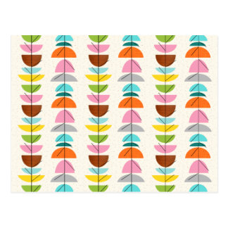 Retro Colorful Nests Postcard