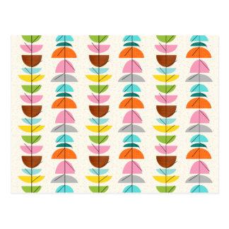 Retro Colorful Nests Postcard
