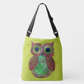 Retro Colorful Owl Boho Bohemian Bird Custom Crossbody Bag