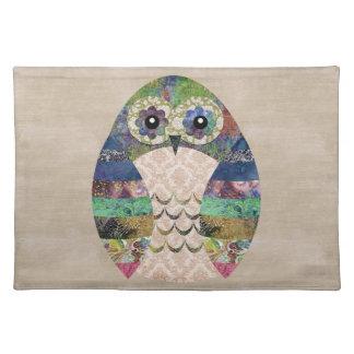 Retro Colorful Owl Boho Bohemian Bird Custom Placemat