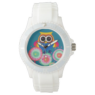 Retro Colorful Owl Watch