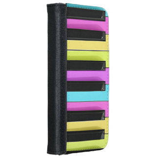 Retro Colorful Pastels Piano Keys iPhone 6 Wallet Case