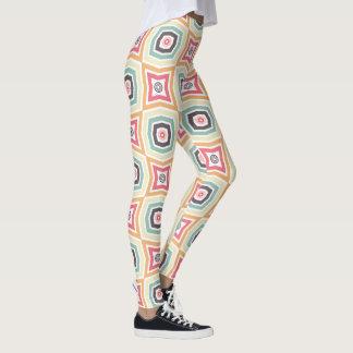 Retro Colorful Pattern Leggings