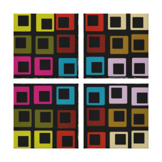 Retro Colorful Pattern Seamless  - Wrapped Canvas