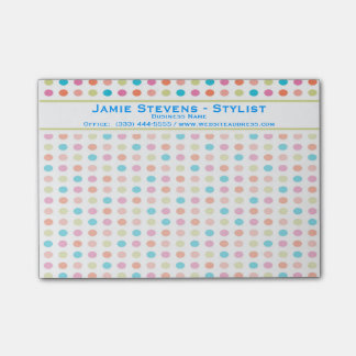 Retro Colorful Polka Dots Post-it® Notes