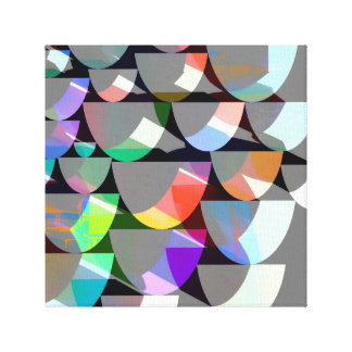 Retro Colorful Shape Collage Canvas Print