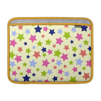 Retro Colorful star pattern on cream Sleeve For MacBook Air