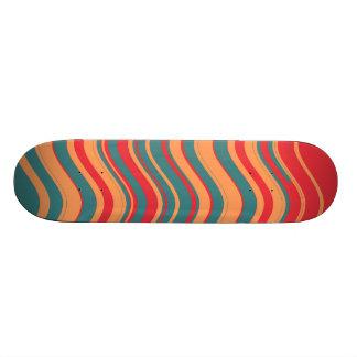 Retro Colorful Stripes Decorative Art 2 19.7 Cm Skateboard Deck