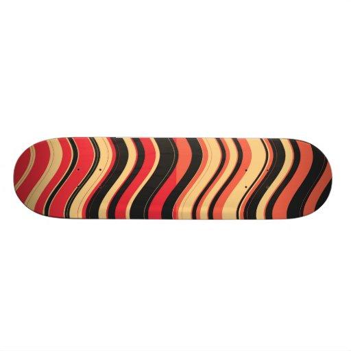 Retro Colorful Stripes Decorative Art 3 Skateboard Decks
