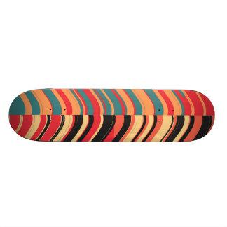 Retro Colorful Stripes Decorative Art Skate Board