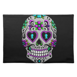 Retro Colorful Sugar Skull Placemat