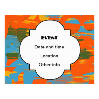 Retro colors abstract art full color flyer