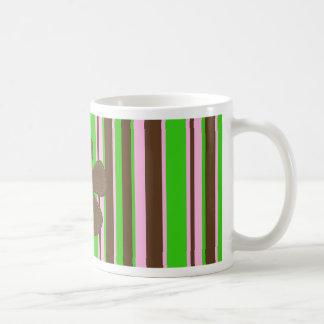Retro colors basic white mug