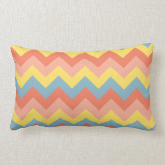 Retro Colour Chevron Lumbar Cushion