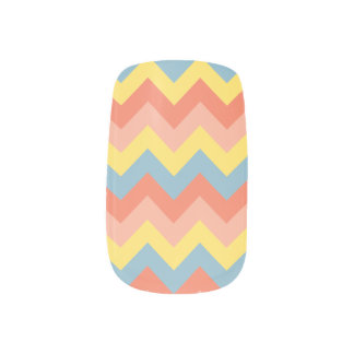 Retro colour chevron minx nail art