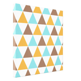Retro Colour Triangle Pattern Canvas Print