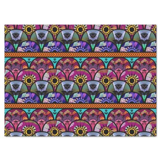 Retro Colourful Beautiful Boho Bohemian Tissue Paper