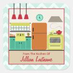 Retro Colourful Kitchen Label Sticker