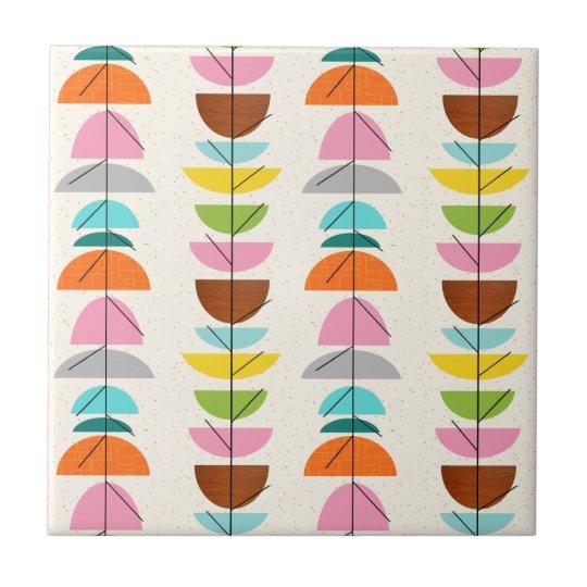 Retro Colourful Nests Ceramic Tile