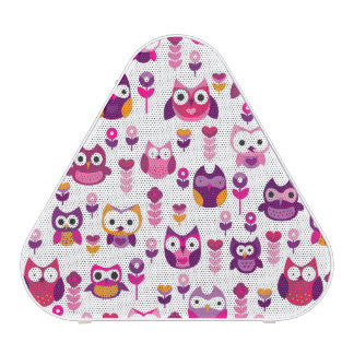 retro colourful owl bird pattern