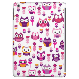 retro colourful owl bird pattern