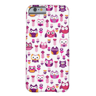 retro colourful owl bird pattern barely there iPhone 6 case