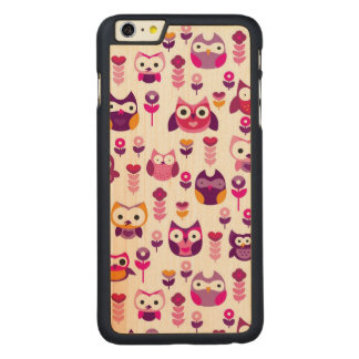 retro colourful owl bird pattern carved® maple iPhone 6 plus case