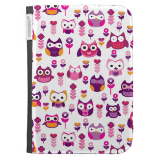 retro colourful owl bird pattern case for kindle