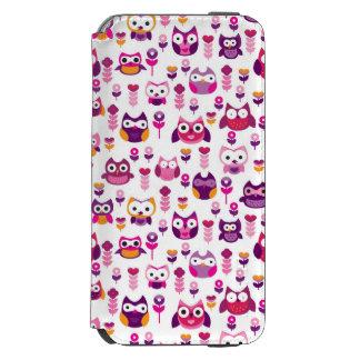 retro colourful owl bird pattern incipio watson™ iPhone 6 wallet case